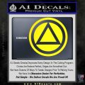 AA Alcoholics Anonymous CT D3 Decal Sticker Yellow Laptop 120x120
