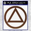 Alcoholics Anonymous AA Decal Sticker C T BROWN Vinyl 120x120