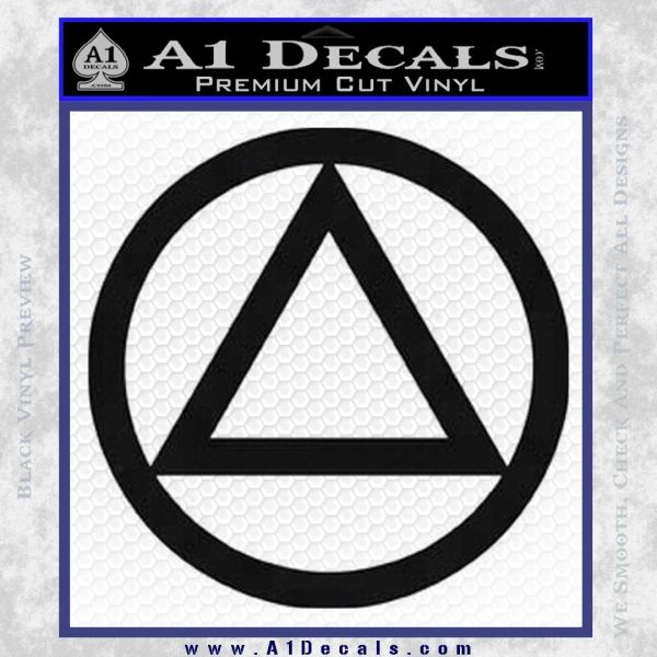Alcoholics Anonymous AA Decal Sticker C T Black Vinyl