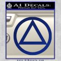 Alcoholics Anonymous AA Decal Sticker C T Blue Vinyl 120x120