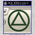 Alcoholics Anonymous AA Decal Sticker C T Dark Green Vinyl 120x120