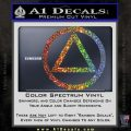 Alcoholics Anonymous AA Decal Sticker C T Glitter Sparkle 120x120