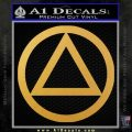 Alcoholics Anonymous AA Decal Sticker C T Gold Vinyl 120x120