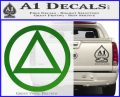 Alcoholics Anonymous AA Decal Sticker C T Green Vinyl Logo 120x97