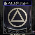 Alcoholics Anonymous AA Decal Sticker C T Metallic Silver Emblem 120x120