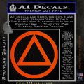 Alcoholics Anonymous AA Decal Sticker C T Orange Emblem 120x120