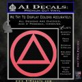 Alcoholics Anonymous AA Decal Sticker C T Pink Emblem 120x120