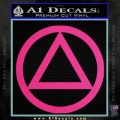Alcoholics Anonymous AA Decal Sticker C T Pink Hot Vinyl 120x120