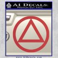 Alcoholics Anonymous AA Decal Sticker C T Red 120x120