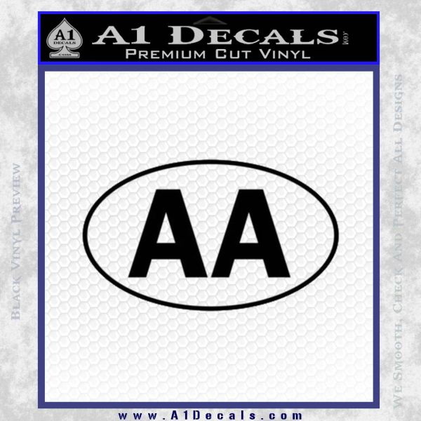 Alcoholics Anonymous Aa Euro D1 Decal Sticker Black Vinyl