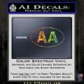 Alcoholics Anonymous Aa Euro D1 Decal Sticker Glitter Sparkle 120x120