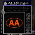 Alcoholics Anonymous Aa Euro D1 Decal Sticker Orange Emblem 120x120