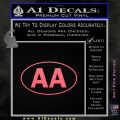 Alcoholics Anonymous Aa Euro D1 Decal Sticker Pink Emblem 120x120