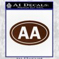 Alcoholics Anonymous Aa Euro D2 Decal Sticker BROWN Vinyl 120x120