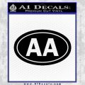 Alcoholics Anonymous Aa Euro D2 Decal Sticker Black Vinyl 120x120