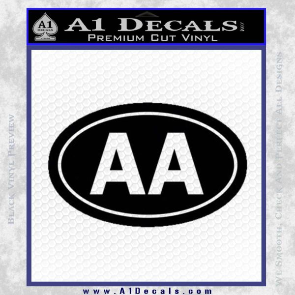 Alcoholics Anonymous Aa Euro D2 Decal Sticker Black Vinyl