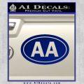 Alcoholics Anonymous Aa Euro D2 Decal Sticker Blue Vinyl 120x120