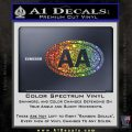 Alcoholics Anonymous Aa Euro D2 Decal Sticker Glitter Sparkle 120x120