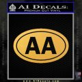 Alcoholics Anonymous Aa Euro D2 Decal Sticker Gold Vinyl 120x120