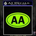 Alcoholics Anonymous Aa Euro D2 Decal Sticker Lime Green Vinyl 120x120
