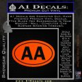 Alcoholics Anonymous Aa Euro D2 Decal Sticker Orange Emblem 120x120