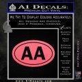 Alcoholics Anonymous Aa Euro D2 Decal Sticker Pink Emblem 120x120