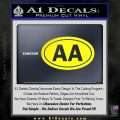 Alcoholics Anonymous Aa Euro D2 Decal Sticker Yellow Laptop 120x120