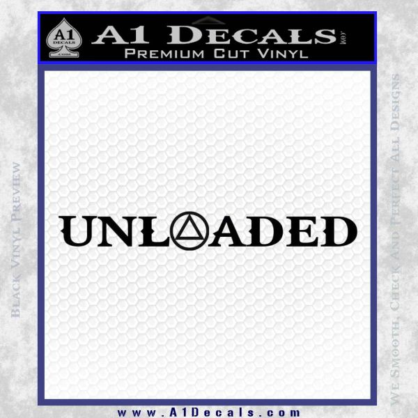 Alcoholics Anonymous Unloaded Decal Sticker Black Vinyl