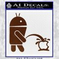 Android Pissing On Apple Decal Sticker BROWN Vinyl 120x120