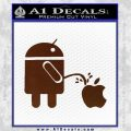 Android Pissing On Apple Decal Sticker D2 BROWN Vinyl 120x120