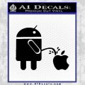 Android Pissing On Apple Decal Sticker D2 Black Vinyl 120x120
