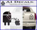 Android Pissing On Apple Decal Sticker D2 Carbon FIber Black Vinyl 120x97