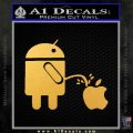 Android Pissing On Apple Decal Sticker D2 Gold Vinyl 120x120