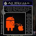 Android Pissing On Apple Decal Sticker D2 Orange Emblem 120x120