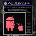 Android Pissing On Apple Decal Sticker D2 Pink Emblem 120x120