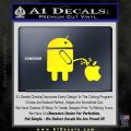 Android Pissing On Apple Decal Sticker D2 Yellow Laptop 120x120