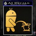 Android Pissing On Apple Decal Sticker Gold Vinyl 120x120