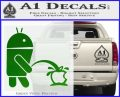 Android Pissing On Apple Decal Sticker Green Vinyl Logo 120x97