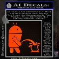 Android Pissing On Apple Decal Sticker Orange Emblem 120x120