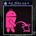 Android Pissing On Apple Decal Sticker Pink Hot Vinyl 120x120