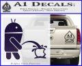 Android Pissing On Apple Decal Sticker PurpleEmblem Logo 120x97