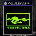 Anunnaki Made Flag Neon Green Vinyl 120x120