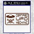 Certified UFO Mechanic Decal Sticker BROWN Vinyl 120x120