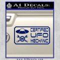 Certified UFO Mechanic Decal Sticker Blue Vinyl 120x120