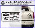 Certified UFO Mechanic Decal Sticker Carbon FIber Black Vinyl 120x97