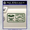 Certified UFO Mechanic Decal Sticker Dark Green Vinyl 120x120