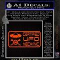 Certified UFO Mechanic Decal Sticker Orange Emblem 120x120
