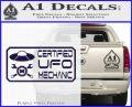 Certified UFO Mechanic Decal Sticker PurpleEmblem Logo 120x97