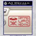 Certified UFO Mechanic Decal Sticker Red 120x120