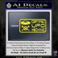 Certified UFO Mechanic Decal Sticker Yellow Laptop 120x120